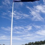 Australian flag at the Voyager Estate
