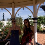 Andrea and I in the rose garden