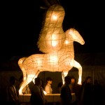 Funky lit up horse
