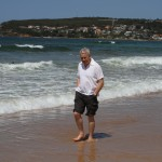 Dad enjoying Manly Beach