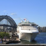 Cruise ship pulling up in the harbour
