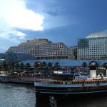 Darling Harbour as the light fades