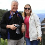 With Dad at the Three Sisters lookout point