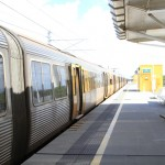 Catching the train at Brisbane Airport