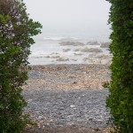 View through the Kaikoura beach