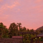 Sunset at the Rainforest holiday park