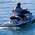 Just taking the dog out for a jet ski