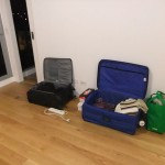Living out of suitcases