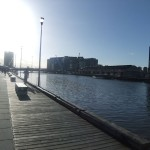 Looking back along the Yarra river