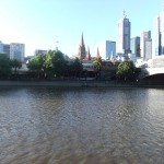 Across the Yarra River to the city
