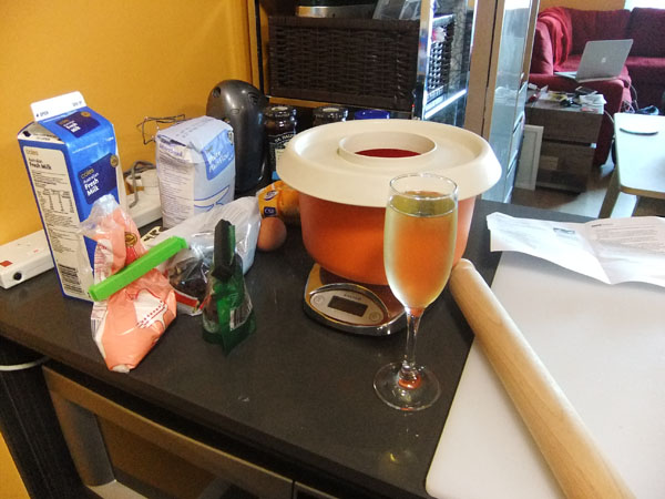 Ingredients, check. Wine, check.