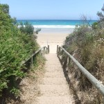 Steps to the sand