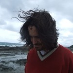 Wind in his hair!