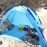 Our beach shelter