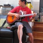 Playing the real guitar