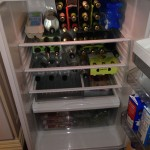 The fridge full of beer and cider