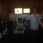 Tom and Kate trying the wine