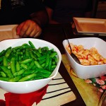Veggies and chilli prawns