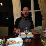Rob was excited for dinner